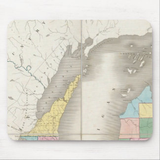 Map of Michigan & Part Of Wisconsin Territory Mouse Mat