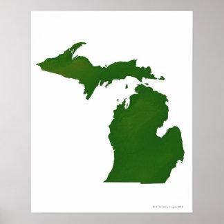 Map of Michigan Poster