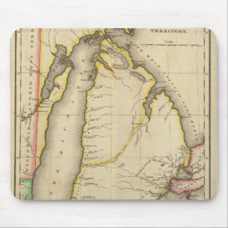 Map Of Michigan Territory Mouse Mat