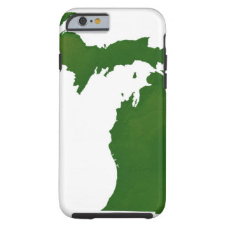 Map of Michigan Tough iPhone 6 Case