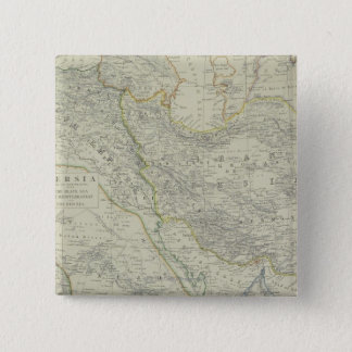 Map of Middle East 15 Cm Square Badge