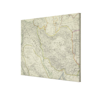 Map of Middle East Canvas Print