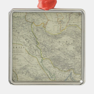Map of Middle East Christmas Ornament