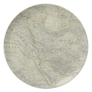 Map of Middle East Dinner Plate