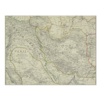 Map of Middle East Postcard
