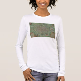 Map of Milan, from 'Civitates Orbis Terrarum' by G Long Sleeve T-Shirt