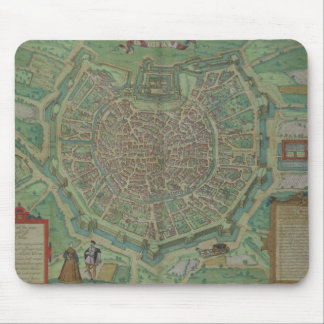 Map of Milan, from 'Civitates Orbis Terrarum' by G Mouse Mat