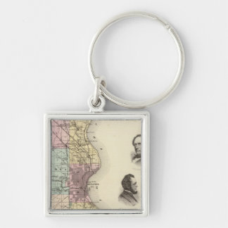Map of Milwaukee County, State of Wisconsin Key Ring