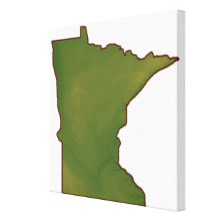 Map of Minnesota 2 Stretched Canvas Prints