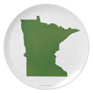 Map of Minnesota 2 Plate