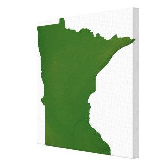 Map of Minnesota Canvas Print