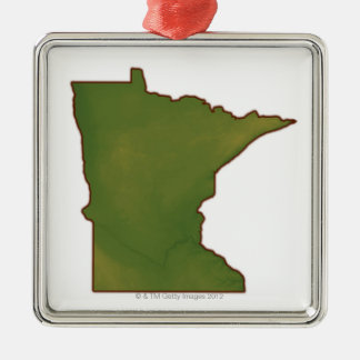 Map of Minnesota Christmas Ornament