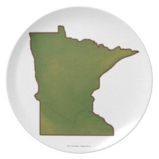 Map of Minnesota Plate