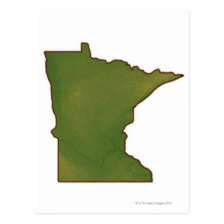 Map of Minnesota Postcard