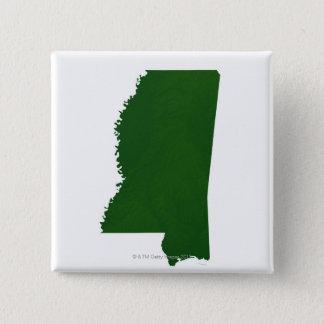 Map of Mississippi 2 15 Cm Square Badge