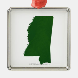 Map of Mississippi 2 Christmas Ornament