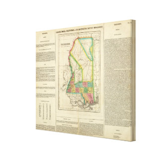 Map Of Mississippi Canvas Print