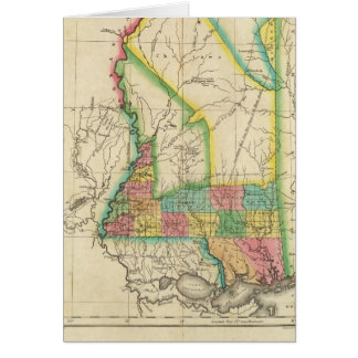 Map Of Mississippi Card