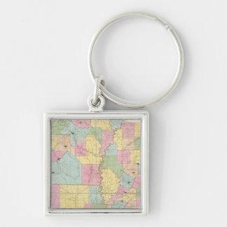 Map of Mississippi, Louisiana & Arkansas Key Ring