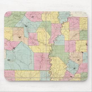 Map of Mississippi, Louisiana & Arkansas Mouse Mat
