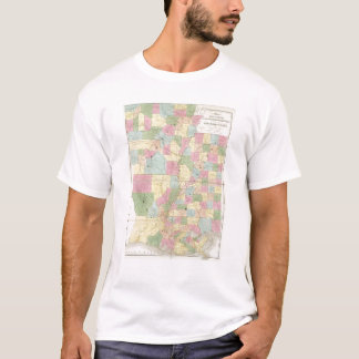 Map of Mississippi, Louisiana & Arkansas T-Shirt