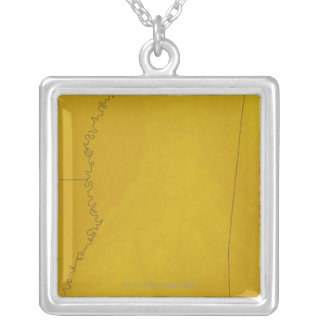 Map of Mississippi Silver Plated Necklace
