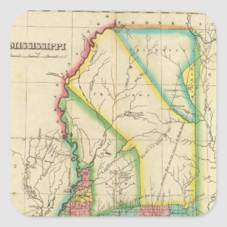 Map Of Mississippi Square Sticker