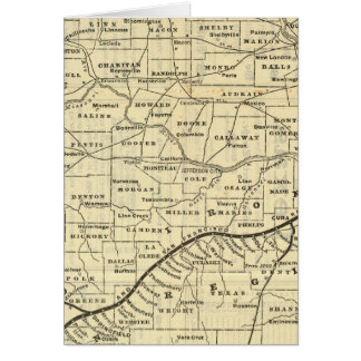 Map of Missouri 2 Card