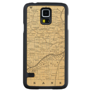 Map of Missouri 2 Carved Maple Galaxy S5 Case