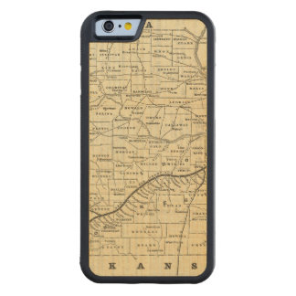 Map of Missouri 2 Carved Maple iPhone 6 Bumper Case
