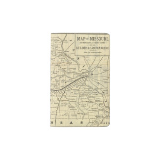Map of Missouri 2 Pocket Moleskine Notebook