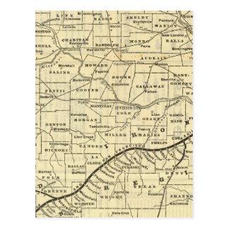 Map of Missouri 2 Postcard