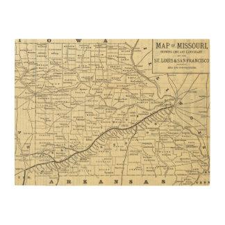 Map of Missouri 2 Wood Print