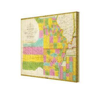 Map of Missouri Canvas Print