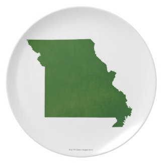 Map of Missouri Party Plate