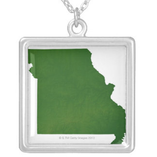 Map of Missouri Silver Plated Necklace