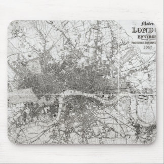 Map of Modern London and its Environs, 1854 Mouse Mat