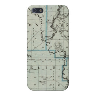 Map of Monona County, State of Iowa 2 iPhone 5/5S Cover