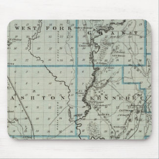 Map of Monona County, State of Iowa 2 Mouse Mat