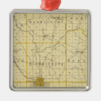 Map of Monroe County Christmas Ornament
