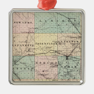 Map of Monroe County, State of Wisconsin Christmas Ornament