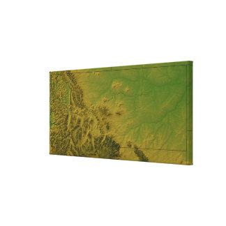 Map of Montana Canvas Print