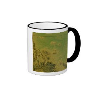 Map of Montana Coffee Mugs