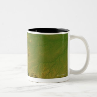 Map of Montana Two-Tone Coffee Mug