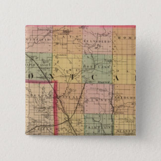 Map of Montcalm County, Michigan 15 Cm Square Badge