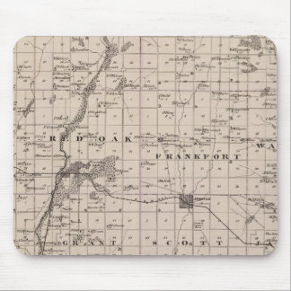 Map of Montgomery County, State of Iowa Mouse Mat