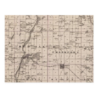 Map of Montgomery County, State of Iowa Postcard