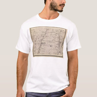Map of Montgomery County, State of Iowa T-Shirt