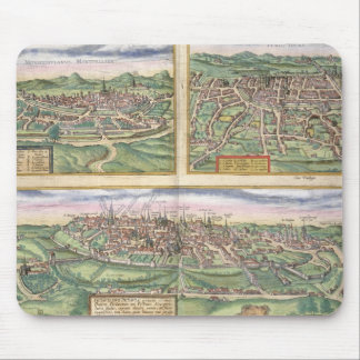Map of Montpellier, Tours, and Poitiers, from 'Civ Mouse Mat
