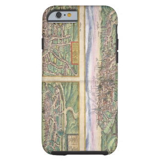 Map of Montpellier, Tours, and Poitiers, from 'Civ Tough iPhone 6 Case